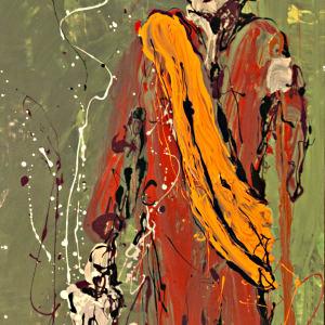 Standing Monk by GENE