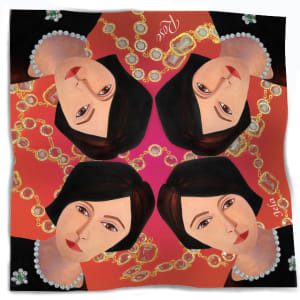 THE ROSE SCARF by judith angerman