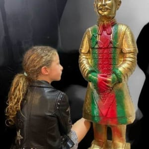 THE REALFAKE SERIES: THE GUCCI WARRIOR by judith angerman  Image: Gucci Warrior with future art collector