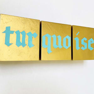 TURQUOISE TRIPTYCH by judith angerman