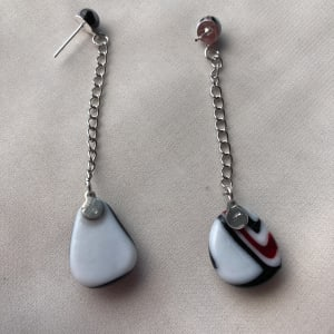 Fused Glass Earrings #40 by Shayna Heller
