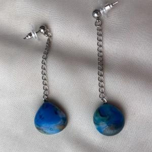 Fused Glass Earrings #32 by Shayna Heller