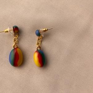 Fused Glass Earrings #33 by Shayna Heller