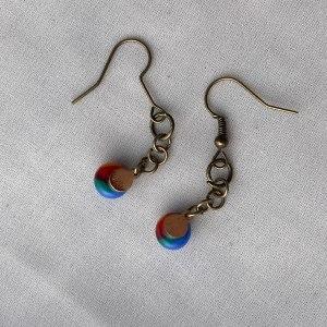 Fused Glass Earrings #34 by Shayna Heller