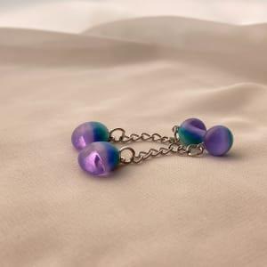 Fused Glass Earrings #36 by Shayna Heller