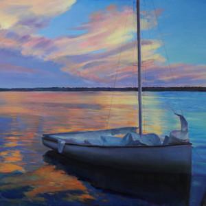 Sailboat at sunset 2 ruwnyb