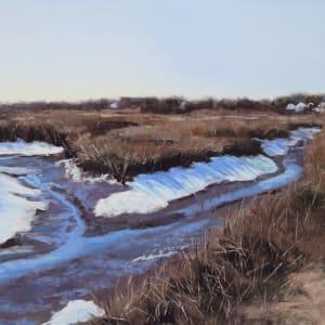 Seaview Snowy Marsh by Renee Leopardi