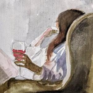 Wine Time by Maria Kelebeev