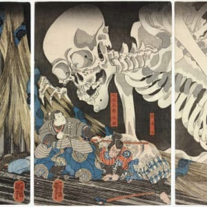 Mitsukuni Defying the Skeleton Spectre invoked by Princess Takiyasha, Japan by Utagawa Kuniyoshi