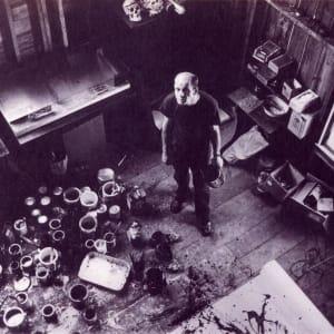 Jackson Pollock (with skull) by Rudy Burckhardt