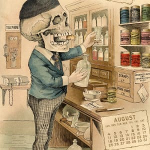 The Things Which Keep Him Busy July/ August/ September: The Antikamnia Calendar for 1901 by Louis Crusius