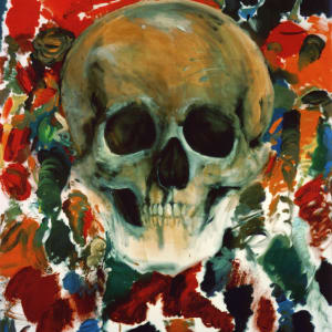 The Face in the Rage of Red by Jim Dine