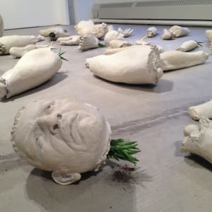 Dismmembered Bodies Memorial/ Clay Traffic (Corruption in Mexican Politics) by Rodrigo Lara Zendejas