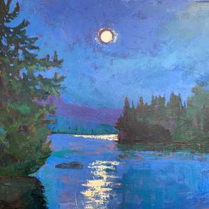 Moonlight on Upper Saranac by Holly Friesen