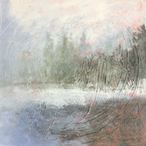 Pink Pond #7 by Holly Friesen