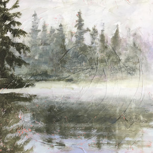 Pink Pond #10 by Holly Friesen