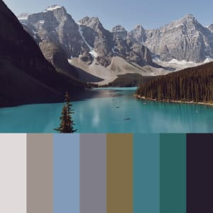 108: Lake Moraine Banff Ntl Park Canada (Jenny) Petite by Kat Allie