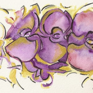 Golden Orchids by Sonya Kleshik