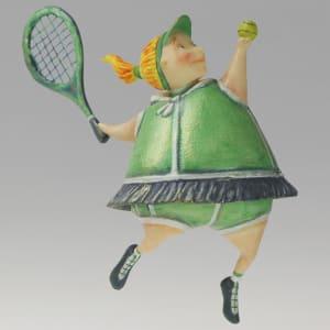 Tennis player by Ima Naroditskaya