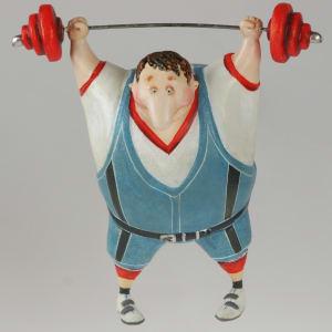 Weightlifter by Ima Naroditskaya
