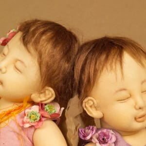 Two dozing little angels by Moonyoung Jeong