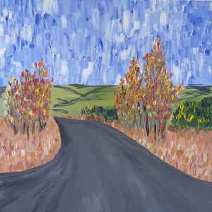 Poplars in Autumn by Montana Jayde O'Neill