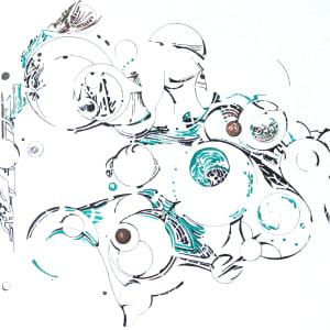 spheres with green by Paige Zirkler