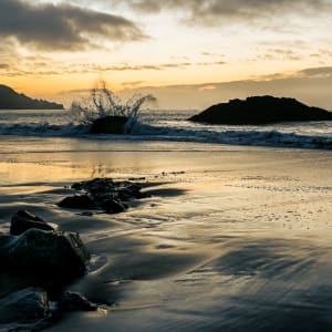 Sunset Tidings (Marshall's Beach,SF, Ca) by Michael Endicott