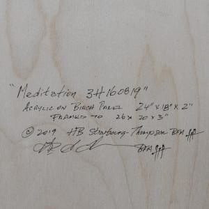 Meditation 3H160819 by HB Barry Strasbourg-Thompson BFA