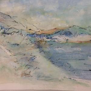 Lagoon at Prickly Pear Island F.W.I. by Susan Grucci