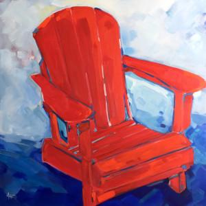 Red Adirondack by Holly Ann Friesen
