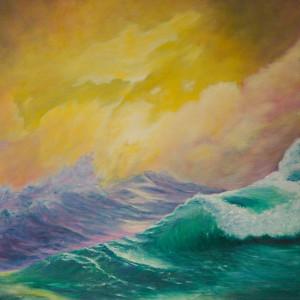Winds Whip Carmel Curl by Jill Cooper