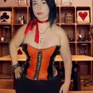handmade leather Corset Size S-M-L by Annie Rich