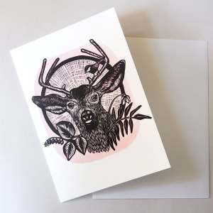 Greeting Card: Blacktail by Carolyn Howse