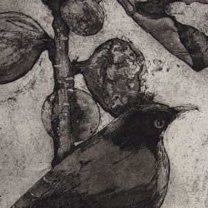 Thrushes and Fig Tree by Carolyn Howse