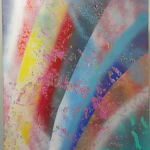 Peeled 24 x 30 oil krylon on canvas a39egd