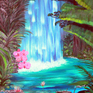 Tropical waterfall qdt5l7