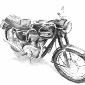 Motorbike (Triumph3) Commission by Ally Tate