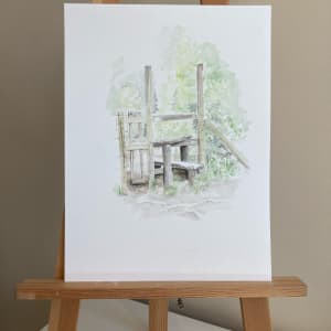 Charminster Sty (Watercolour) by Ally Tate