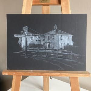 White House Charminster (white on black version) by Ally Tate