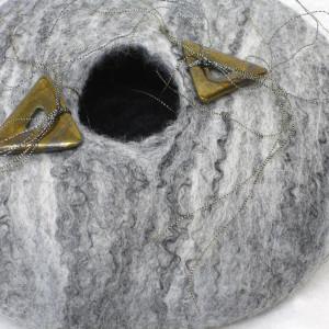 Grey Felt Pot #4 by Barbetta Lockart