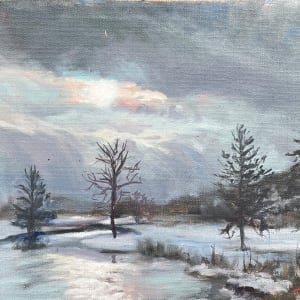 Early Winter Sketch by Sharon Rusch Shaver