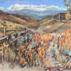 Plein Ranch View by Sharon Rusch Shaver