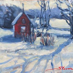 Plein First Snow by Sharon Rusch Shaver