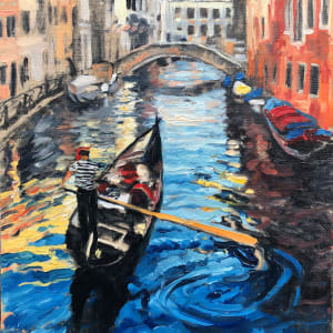 """Ride the Canals Sketch"" by Sharon Rusch Shaver"