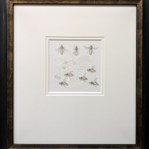 Study of a honey bee 005 framed hr yvhy3d