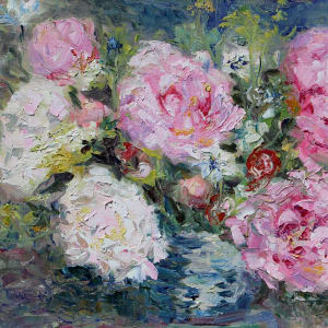 Amber's Peonies by Terrill Welch