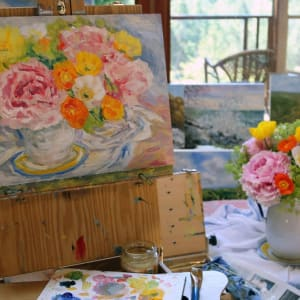 Peonies and Poppies Still Life Study by Terrill Welch