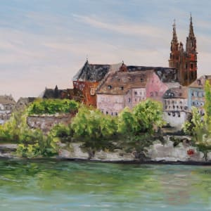 Rhine River in Basel Switzerland
