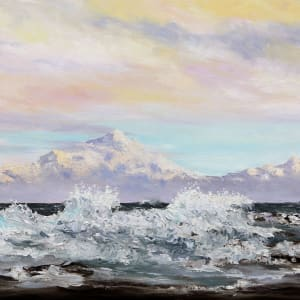 Salish Sea Entertaining Mount Baker by Terrill Welch